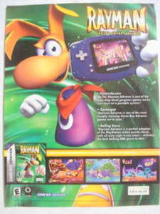 2001 Ad Video Game Rayman Advance by Ubi Soft