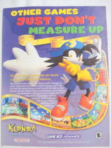 2001 Ad Video Game Klonoa Empire of Dreams