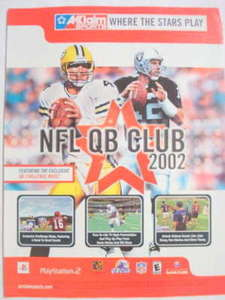 2001 Ad Video Game NFL QB Club 2002 by Acclaim Sports