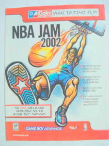 2001 Ad Video Game NBA Jam 2002 by Acclaim Sports