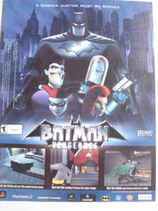 2001 Ad Video Game Batman Vengeance by Ubi Soft
