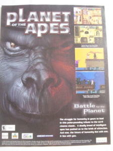 2001 Ad Video Game Planet of the Apes by Ubi Soft