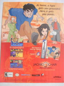 2001 Ad Video Game Jackie Chan Adventures
