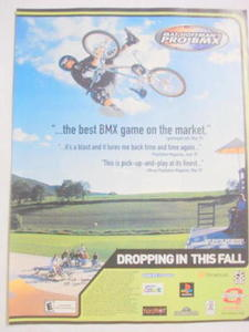 2001 Ad Video Game Matt Hoffman's Pro BMX