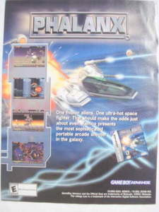 2001 Ad Video Game Phalanx by Kemco