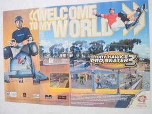2001 Ad Video Game Tony Hawk's Pro Skater 3