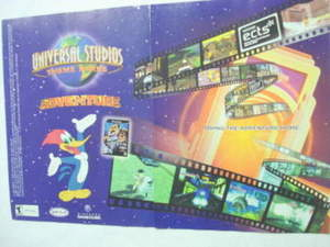 2001 Ad Video Game Univeral Studios Theme Parks Advent.