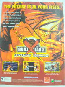 2002 Ad Video Game Guilty Fear X Advance Edition