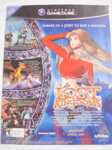2002 Ad Video Game Lost Kingdoms by Activision