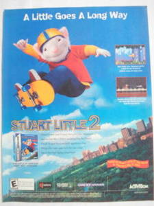2002 Ad Video Game Stuart Little 2 by Activision
