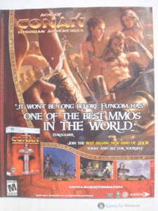 2009 Ad PC Game Age of Conan Hyborian Adventures