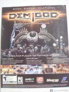 2009 Ad PC Game Demigod