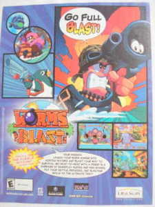 2002 Ad Video Game Worms Blast by Ubi Soft