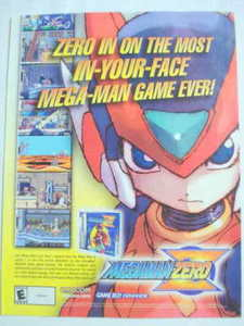 2002 Ad Video Game Megaman Zero by Capcom