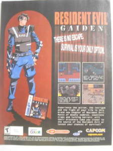 2002 Ad Video Game Resident Evil Gaiden by Capcom