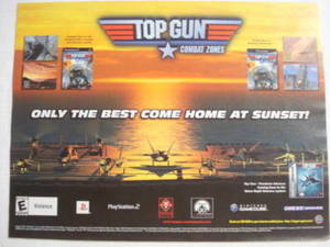2002 Ad Video Game Top Gun Combat Zones by Titus