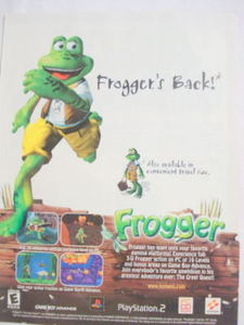 2002 Ad Video Game Frogger