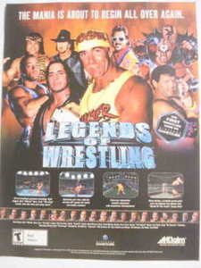 2002 Ad Video Game Legends of Wrestling by Acclaim