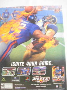 2002 Ad Video Game NFL Blitz 2003 by Midway Sports
