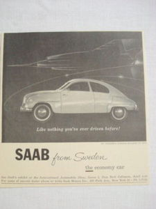 1959 Ad Saab From Sweden The Economy Car