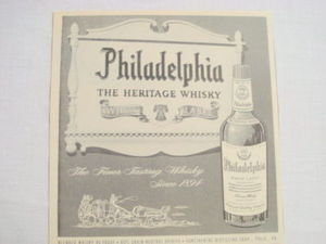 1959 Ad Philadelphia White Label The Heritage Whisky