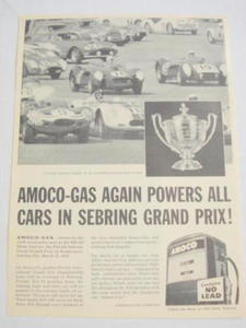 1959 Ad Amoco Gas Florida International Grand Prix