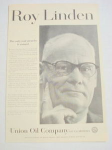 1959 Ad Union Oil Company of California Roy Linden V.P.