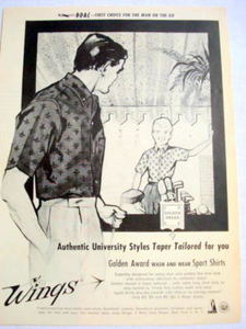 1959 Ad Golden Award Wash and Wear Sport Shirts