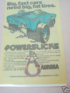 1971 Ad Aurora Powerslicks Cars