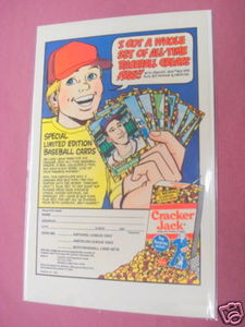 1982 Cracker Jack Ad Special Edition Baseball Cards