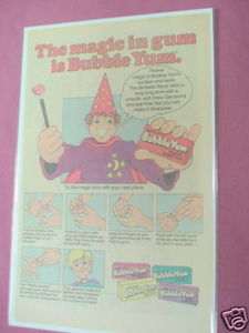 1982 Ad The Magic in Gum is Bubble Yum