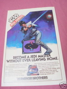 1982 Ad Star Wars Jedi Arena Video Game Parker Brothers