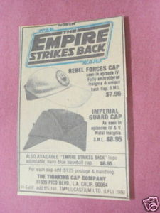 1982 Ad Star Wars The Empire Strikes Back Caps
