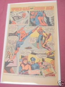 1977 Hostess Twinkies Ad Spider-Man and Madam Web