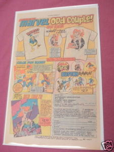 1977 Superheroes Ad Howard the Duck, Red Sonja T-Shirts