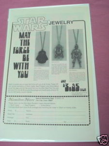 1978 Hamilton House Ad Star Wars Jewelry