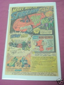 1978 Marvel Toys Ad Spider-Man Car Marvel Mini-Viewer