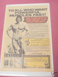 1978 Bodybuilding Ad Olympic Musclebuilders Rockaway NJ