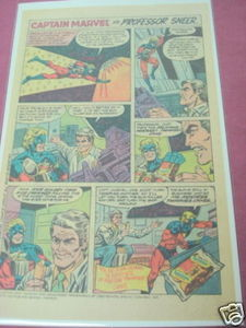 1979 Hostess Twinkies Ad Captain Marvel vs. Prof. Sneer