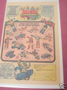 1979 Ad Mattel Shogun Warriors