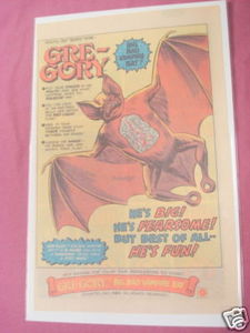 1980 Mattel Ad Gre-Gory Big Bad Vampire Bat