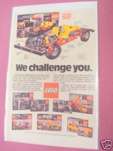 1980 Lego Expert Builder Series Color Ad