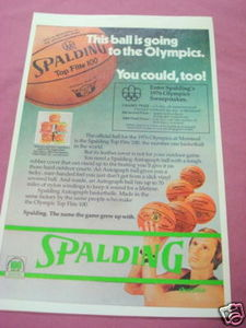 1976 Ad Spalding Top Flite 100 Basketball Rick Barry