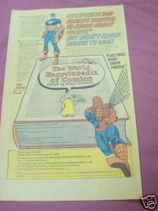 1976 Ad The World Encyclopedia of Comics Spider-Man