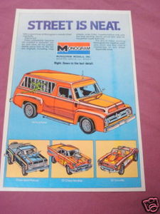 1978 Ad Monogram Street Machines Model Kits '57 Vette
