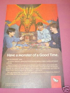 1989 Ad TSR Dungeon Game