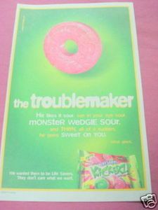 2002 Color Ad Life Savers Kickerz Hard Candy