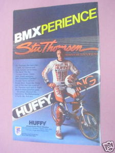 1985 Ad Huffy BMX Racing Bike Featuring Stu Thomsen