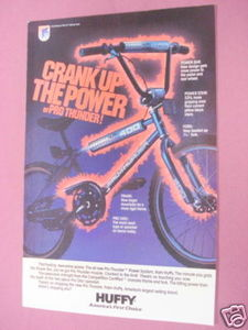 1985 Ad Huffy Pro Thunder Bike