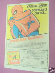 1985 Ad Dorman's Cheese Spider-Man Backpack
